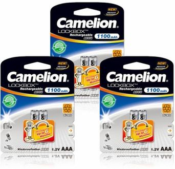 Camelion NH-AAA1100LBBP2 1100mAh Ni-Mh (Pack Of 3) Rechargeable Battery