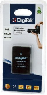 Digitek EN-EL14 1030mAh Rechargeable Li-ion Battery (For Nikon)