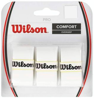 Wilson Pro Comfort Overgrip Tennis Racquet Grip (Pack of 3)