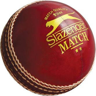 Slazenger Match Red Leather Cricket Ball