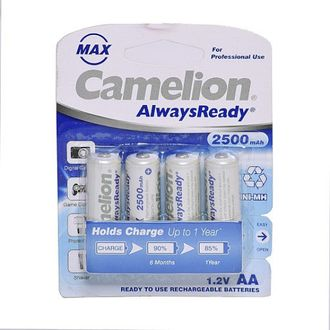 Camelion NH-AA2500ARBP4 2500mAh Ni-Mh (Pack Of 1) Rechargeable Battery