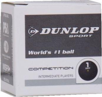 Dunlop Single Dot Squash Ball (Pack Of 12)