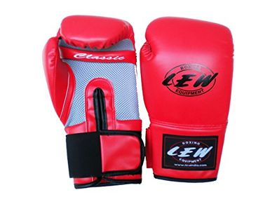 LEW PU Classic Boxing Gloves With Hand Wraps 12 Oz