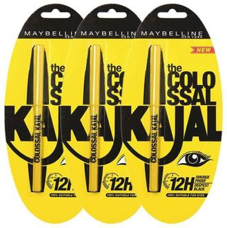 Maybelline Colossal Kajal 12H Combo (Black) (Pack of 3)
