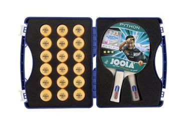 Joola Competition Table Tennis Tour Case Set (with 2 Python Rackets and 18 40mm 3 Star Balls)