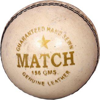 Priya Sports Match White Leather Cricket Ball