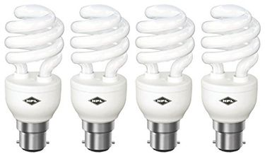 HPL Spiral B22 20W CFL Bulb (White, Pack of 4)