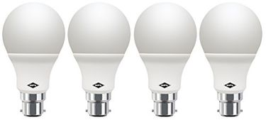 HPL Round B22 7W LED Bulb (White, Pack of 4)