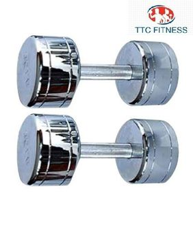 TTC Fitness Fixed Steel Dumbells 20Kg (Pack of 2)