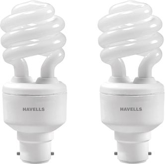 Havells Spiral Shape T3 B-22 15W CFL Bulb (Cool Day Light, Pack of 2)