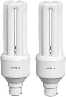 Havells TU B-22 27W CFL Bulb (Cool Day Light, Pack of 2)
