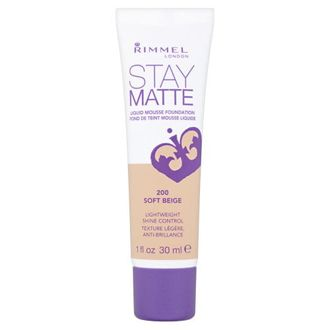Rimmel London Stay Matte Liquid Mousse Foundation (Soft Beige)