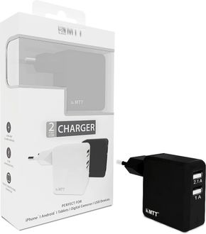 MTT Dual Port 2.1A Fast Charging Wall Charger
