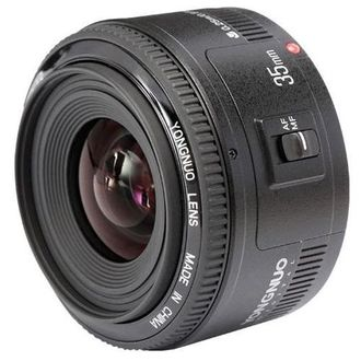 YONGNUO YN35mm F2 Lens 1:2 AF / MF Wide-Angle Fixed/Prime Auto Focus Lens (For Canon EF Mount EOS)