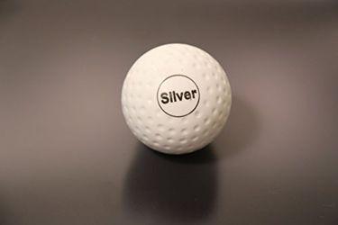 Rakshak Dimple Silver Turf Hockey Ball (Pack of 6)