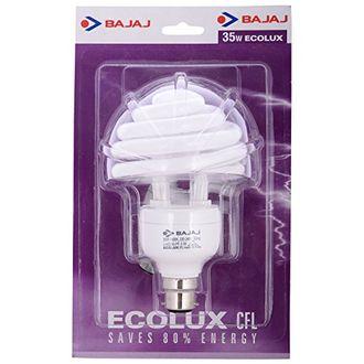 Bajaj Spiral Ecolux 35 Watt CFL Bulb (White)
