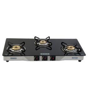 Usha Ebony GS3 003 SS Cook Top (3 Burners)