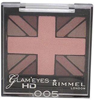 Rimmel Glam Eyes HD Quad Eye Shadow Palette (English Rose)