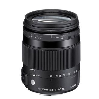 Sigma 18-200mm F/3.5-6.3 DC OS Lens (for Canon DSLR)