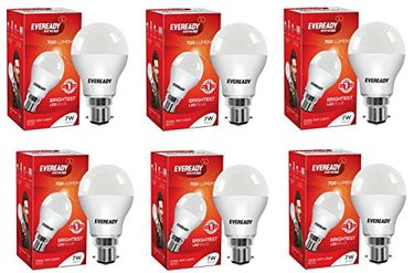 Eveready 7W 6500K White LED Bulbs (Pack of 6)