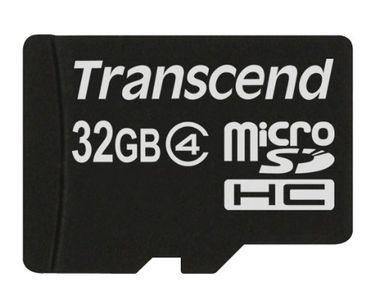 Transcend 32GB MicroSDHC Class 4 (4MB/s) Memory Card