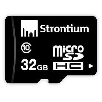 Strontium 32 GB MicroSDHC Class 10 (10MB/s) Memory Card