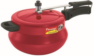 Prestige Nakshatra Plus Red Handi Aluminium 5 L Pressure Cooker (Induction Bottom, Inner Lid)