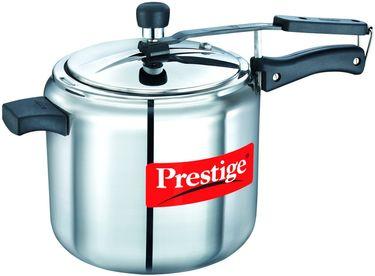 Prestige Nakshatra Alpha Stainless Steel 7 L Pressure Cooker (Induction Bottom, Inner Lid)