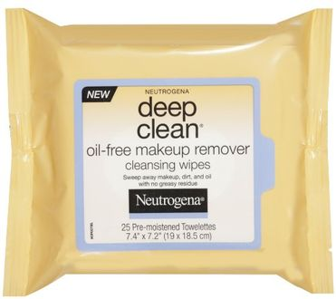 Neutrogena Deep Clean Oil Free Makeup Remover Cleansing (Wipes 25)