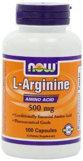 Now Foods L Arginine  500 mg (100 Capsules)