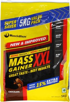 MuscleBlaze Mass Gainer XXL (5 Kg, Chocolate)