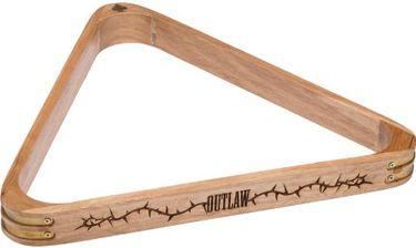 Outlaw Wood Pool Ball Rack (8 Ball, Triangle)