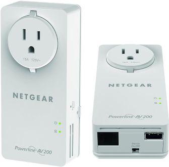 Netgear XAUB2511-100NAS 200Mbps 2-Port Power Lan Adapter