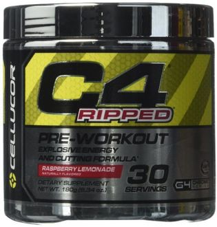 Cellucor C4 Ripped Pre Work Out Protein (Raspberry Lemonade, 30 Servings)