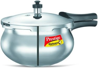 Prestige Deluxe Plus Baby Handi Aluminium 2 L Pressure Cooker (Induction Bottom, Outer Lid)