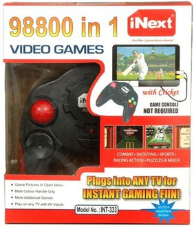 Inext INT333 98800 in 1 Video Game (With Combate Shooting Sports Racing Action Puzzles)