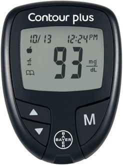 Bayer Contour Plus Glucose Monitor (With 25 Strips)