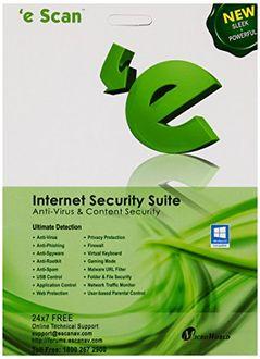 eScan Internet Security Suite 1 PC 1 Year Antivirus