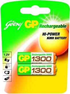Godrej GP AA 1300 mAh (2 Pcs) Rechargeable Battery