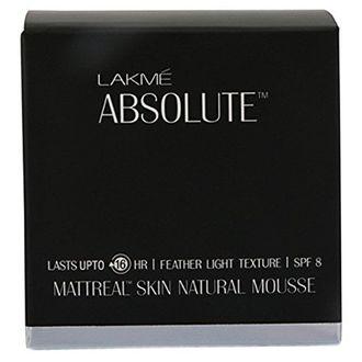 Lakme Absolute Matt Real Skin Natural SPF 8 Mousse Foundation (Golden Medium 03)
