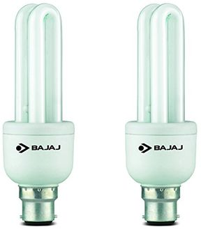 Bajaj Retrofit Miniz T3 Linear B22 11W CFL Bulb (Cool Daylight, Pack of 2)
