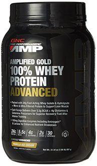 GNC Amplified Gold Whey Protein Advanced Powder (891g, Vanilla)