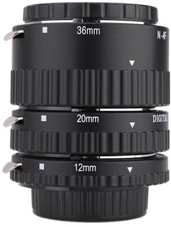 Meike 12mm,20mm,36mm 3-Piece Automatic Macro Extension Tube Set (For Nikon)