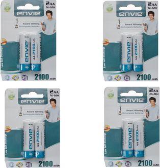 Envie 8 x AA 2100mAh Rechargeable Ni-MH Battery (4 Packs)
