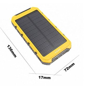 Gizmobitz 12000mAh Solar Power Bank
