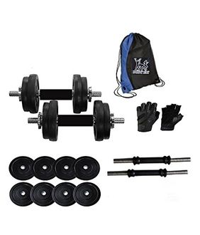 Bodyfit 20kg Adjustable Dumbbells With Gym Bag