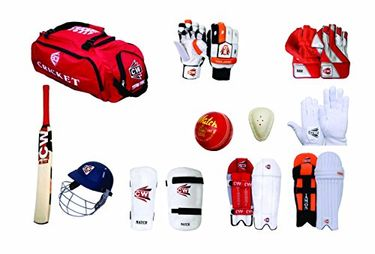 Cw Complete Cricket Kit (with full Range of Batting & Keeping Accessories in Senior Size)