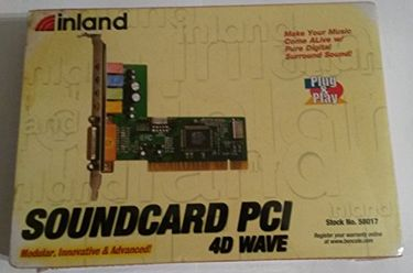 Inland Thunder Sound PCI 4 Channel 4.1 Wavetable Sound Card