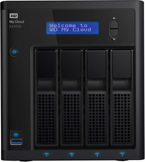WD My Cloud EX4100 Diskless Network Attached Storage Enclosure