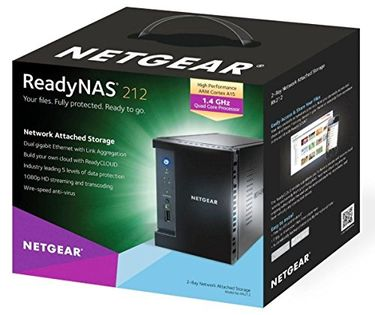 Netgear ReadyNAS 212 (RN21200-100INS) Network Attached Storage